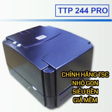 Máy in tem nhãn TSC TTP-244 Pro, may in tem nhan tsc 244pro