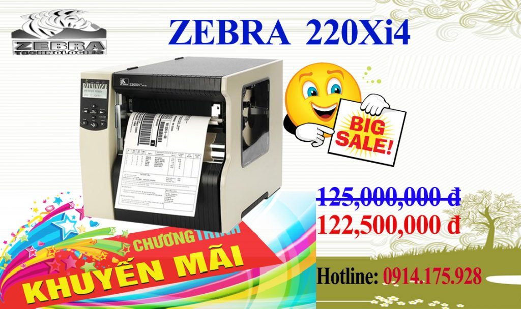 máy in mã vạch zebra 220xi4