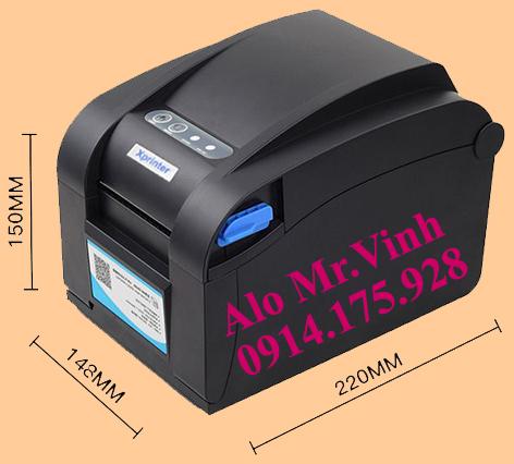 Máy in mã vạch trực tiếp Xprinter XP-350B