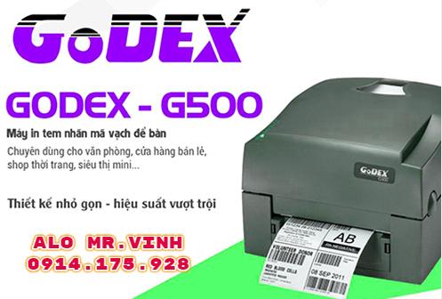 Máy in tem nhãn Godex G500, may in tem nhan godex