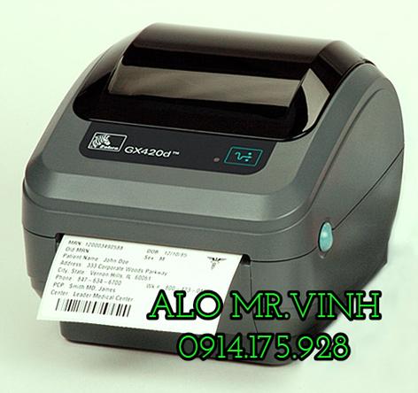 máy in barcode Zebra GK420t