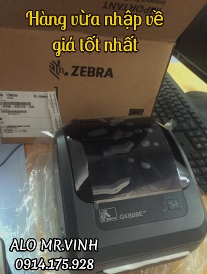 Máy in barcode Zebra GK888E