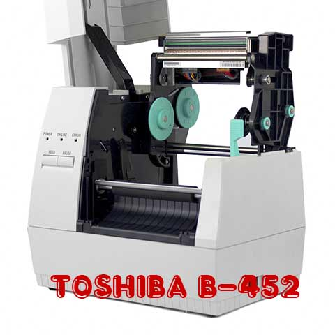 Máy in nhãn TOSHIBA B-452, may in toshiba gia re, máy in nhãn toshiba