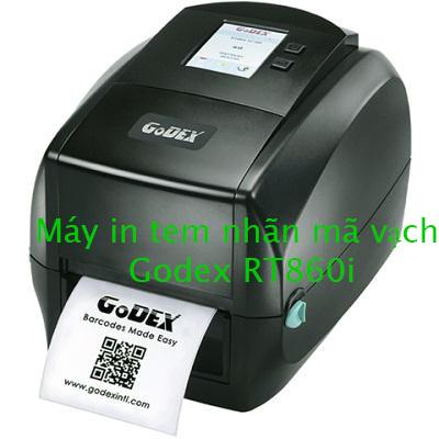 Máy in tem nhãn mã vạch Godex RT860i, máy in godex giá rẻ, máy in tem nhan godex