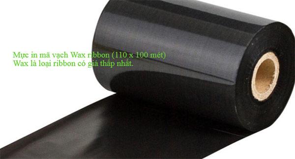 mực in mã vạch wax