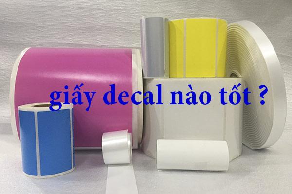Các loại giấy in nhãn mác