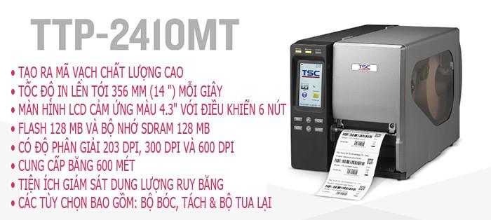 máy in mã vạch TSC TTP-2410MT