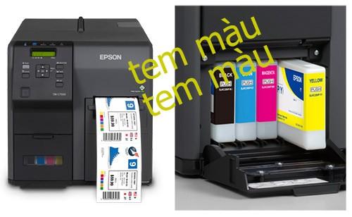 máy in tem nhãn nhiều màu epson
