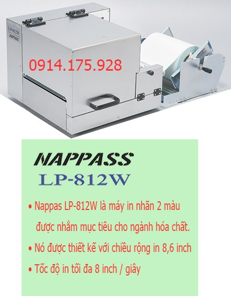 máy in nhãn màu Nappas LP-812W