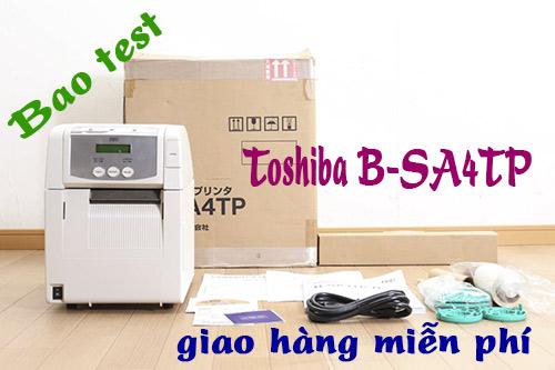 Máy in Toshiba B-SA4TP là máy in tem để bàn