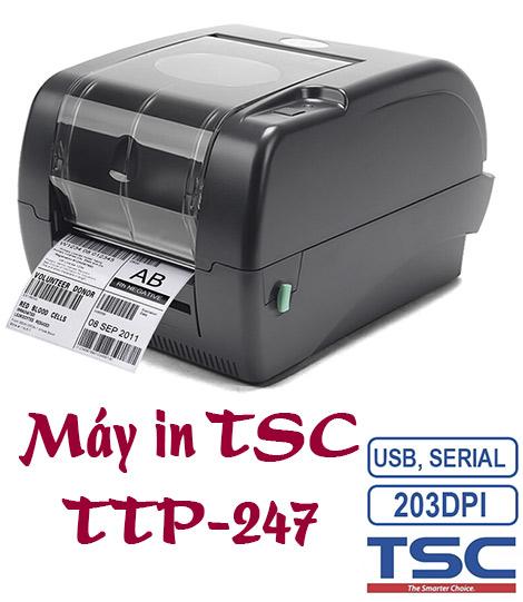 Máy in tsc ttp-247 là máy in để bàn giá tốt